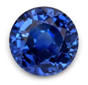 blue round sapphire thailand