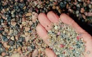 Montana rough gems sapphires