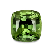natural green sapphire cushion cut