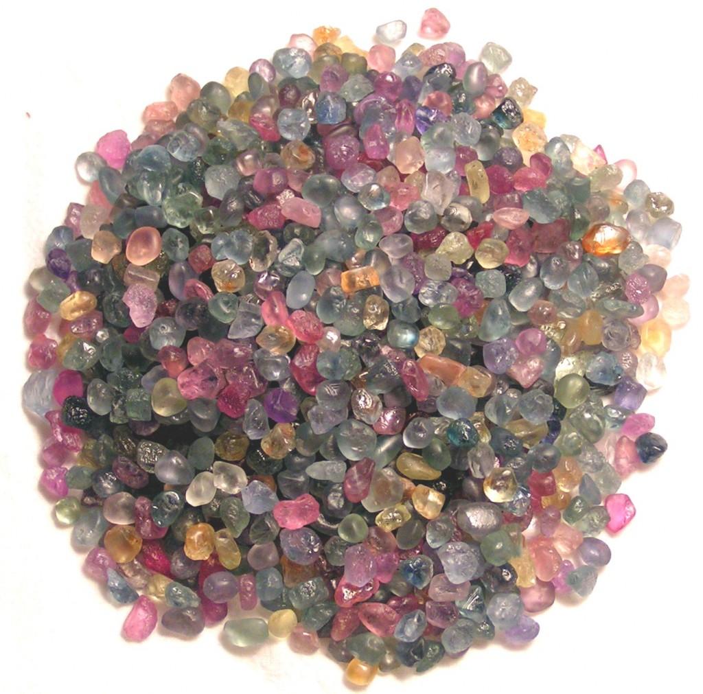 rough montana sapphire colors