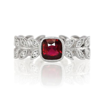 NSC laurel wreath ruby ring
