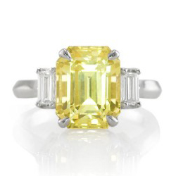 Yellow sapphire engagment rings have become increasingly popular