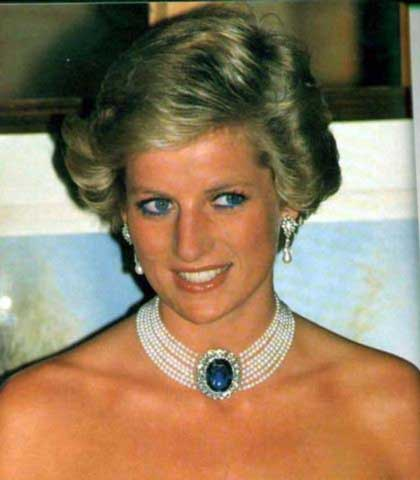 princess diana sapphire choker