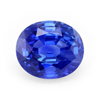 A 69.35 carat natural untreated oval blue sapphire