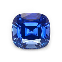 A blue sapphire with a nice hue, a good color tone, and vivid color intensity.