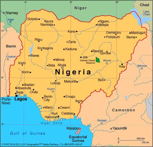 Nigeria-map