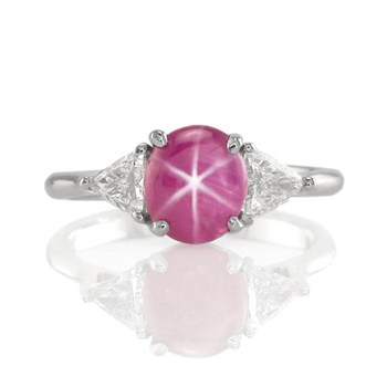 A Star ruby ring