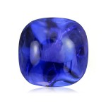 blue sapphire cabochon sugarloaf