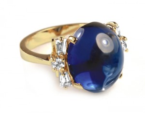 sapphire cabochon ring