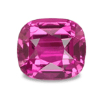 Hot pink sapphire