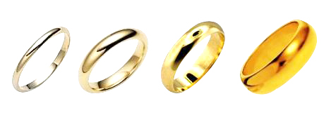 10k, 14k, 18k, 24k yellow gold