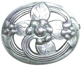 Georg Jensen silver brooch