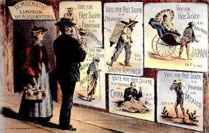 free silver poster 1890s
