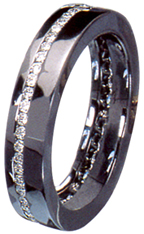 black gold wedding band