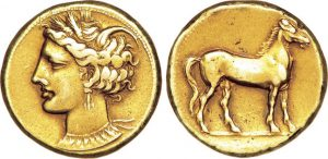 Carthaginian electrum coin
