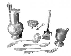 dining set coin silver
