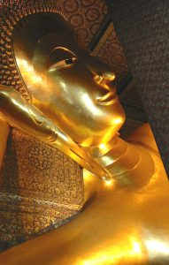 reclining buddha head photo credit Dan Smith