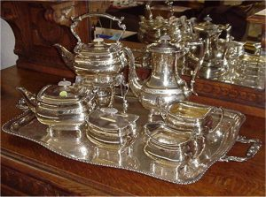 sheffield plate tea set