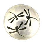 Shibuichi BB dragonfly button