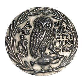 Silver tetradrachm Athens reverse
