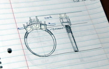 sketch of a ring design