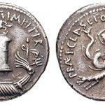 stamping Denarius Sextus coin