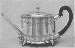silver teapot by Paul Revere