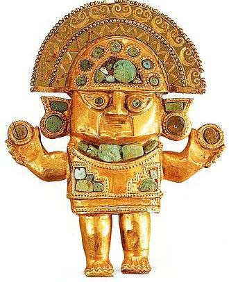 The Incan sun god Inti
