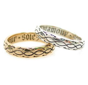yellow and white gold rings