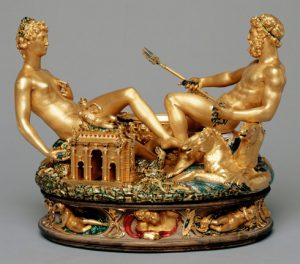 cellini gold salt cellar