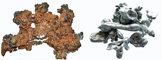 copper and zinc