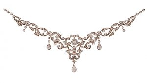 Edwardian garland diamond necklace