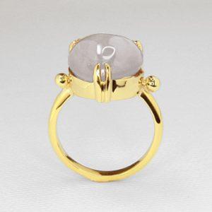 hand fabricated sapphire ring
