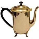 old english silver plated teapot
