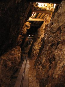 old silver mine interior