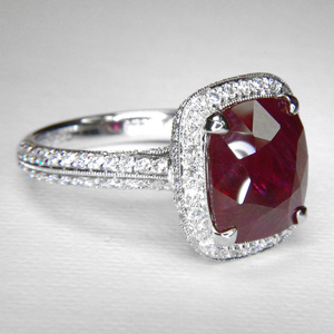 platinum and ruby ring