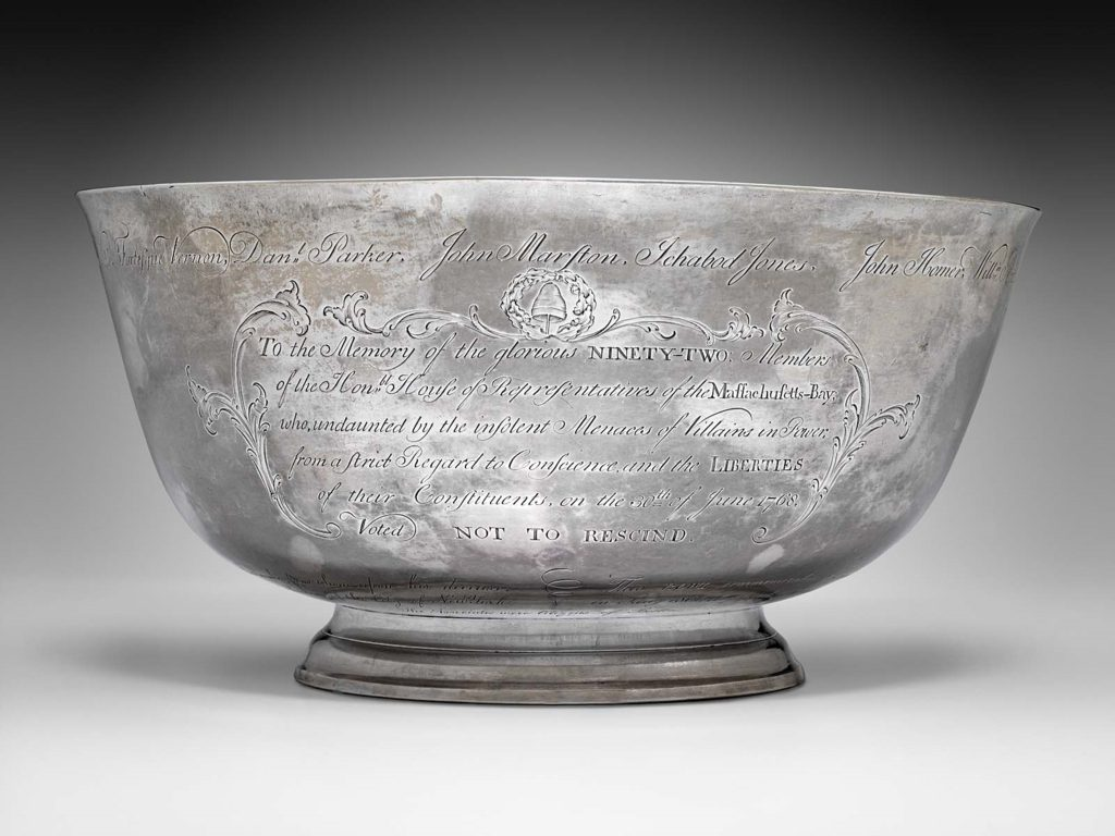 paul revere sons of liberty silver bowl