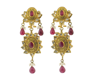 traditional Indian ruby earrings