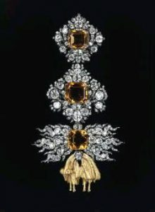 diamond and sapphire brooch golden fleece