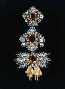 diamond and sapphire brooch golden fleece