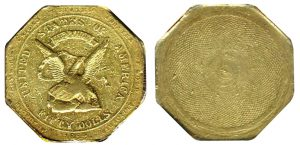 California gold rush coin