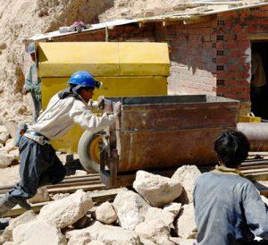 miners in Potosi mines