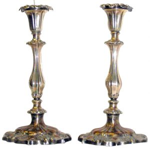 sheffield plate candlesticks