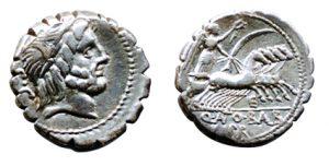 silver denarius coin