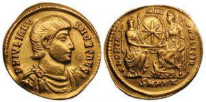 Roman solidus gold coin