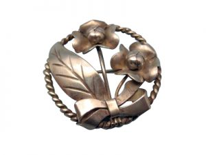 hand fabricated precious metal brooch