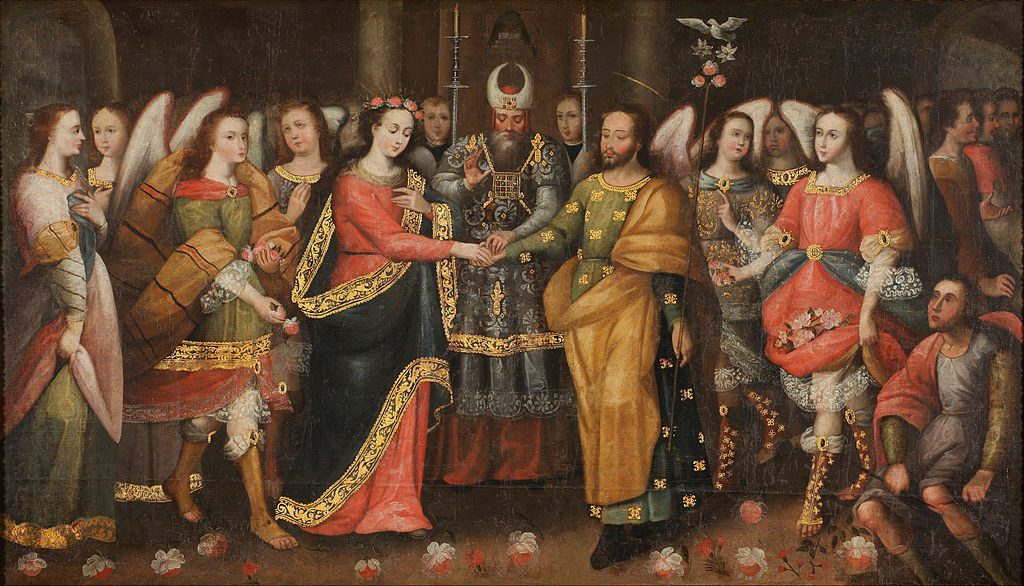 The Marriage of the Virgin painting love rings
