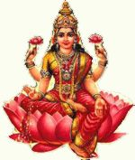 Aditi Hindu goddess with earrings