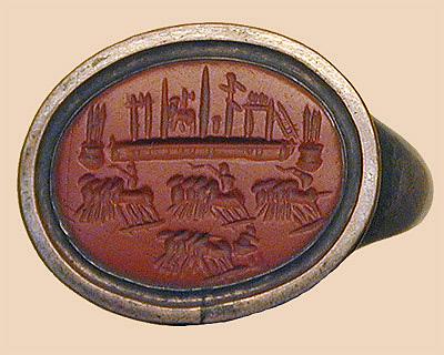 carnelian signet ring