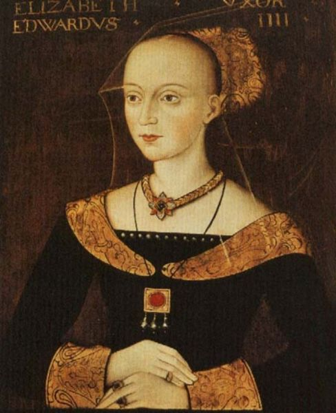 Elizabeth Woodville portrait with rings